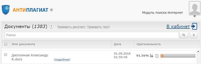 Антиплагиат.ру проверка дипломной работы на ANFOX.RU